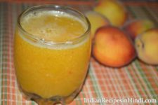 peach juice, aadu juice recipe image, आड़ू का जूस