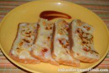 suji dahi toast recipe image, सूजी दही के टोस्ट