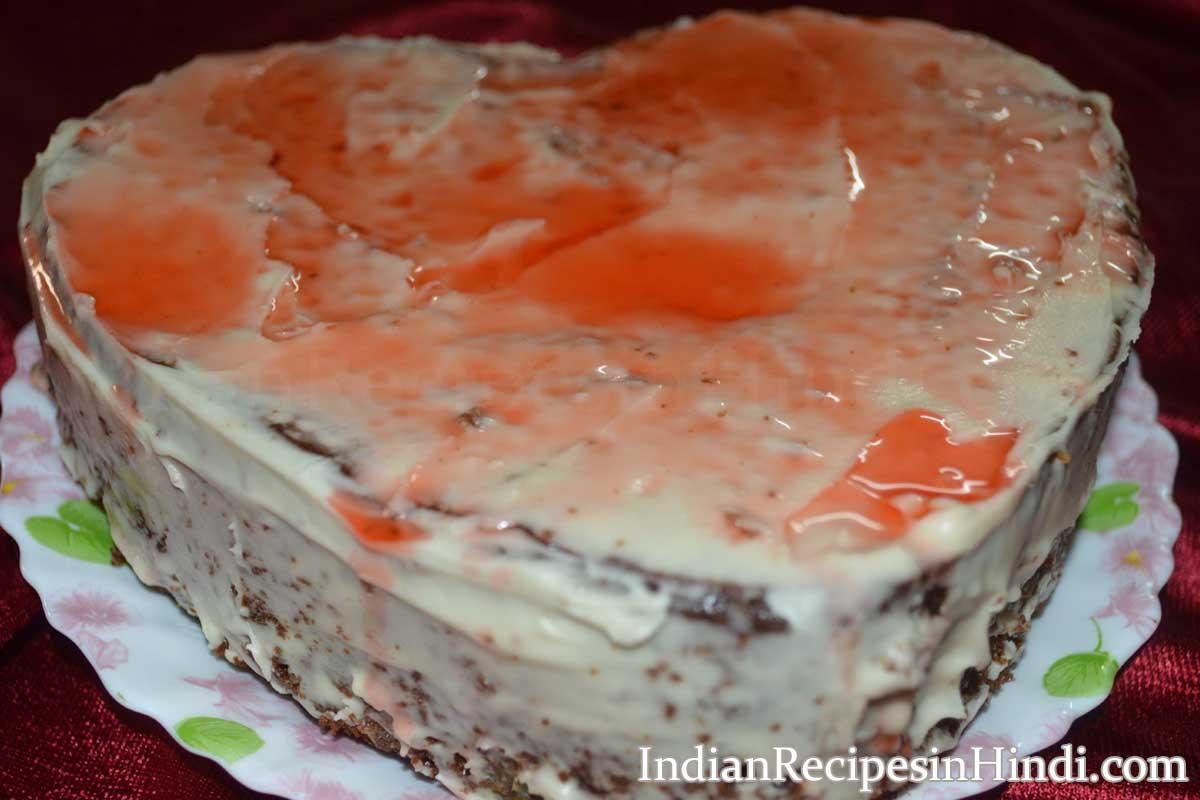 strawberry cake hindi, स्ट्रॉबेरी केक रेसिपी, strawberry cake in hindi without egg