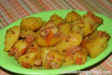 aloo tamatar ki sabji, Aloo Tamatar ki Sabji Dry - आलू टमाटर की सब्जी रेसिपी, potato tomatao vegetable in Hindi