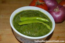 dhaniya pudina chutney, धनिया पुदीना की चटनी, mint coriander chutney in Hindi