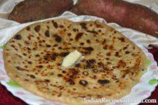 shakarkandi ka paratha, sweet potato paratha in Hindi, शकरकंदी का पराठा रेसिपी