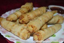 spiral baby corn image, स्पाइरल बेबी कॉर्न रेसिपी, baby corn snack in Hindi