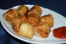 spring rolls image, स्प्रिंग रोल्स रेसिपी, chowmein spring rolls Hindi
