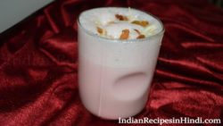roohafza lassi, rooh afza sweet lassi, रूह अफजा लस्सी, meethi lassi in Hindi