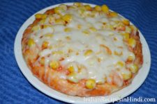 sweet corn pizza, golden corn pizza image
