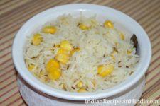 sweet corn pulao, corn pulav recipe image