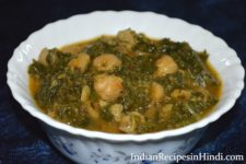 chana palak image, palak chole recipe in Hindi, पालक छोले, palak chana ki sabji